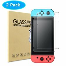 Screen Protector For Nintendo Switch (2 Pack) Genuine TEMPERED GLASS cover New