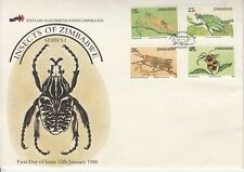 1988 Zimbabwe Insects  First Day Cover
