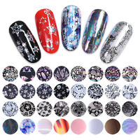 10 Rolls/Box Holographic Nail Foils Xmas  Lace Starry Transfer Stickers