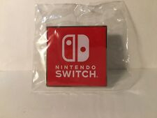 Hard To Find METAL Nintendo Switch Promotional Pin from E3 2017 New Sealed mario