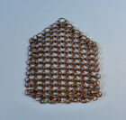 ANTIQUE OLD LARGE METAL WIRE CHAIN MAIL POT SCRUBBER KITCHEN WASHING TOOL AAFA
