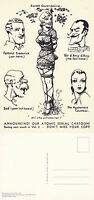 BIZARRE MAGAZINE ILLUSTRATION FROM NUMBER 2 1946 ADVERTISING POSTCARD