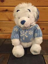 "NEW Disney ""WINNIE THE POOH"" Winter White Stuffed Animal - 12 inches"