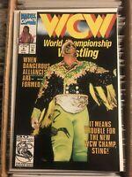WCW WORLD CHAMPIONSHIP WRESTLING #4 STEVE BORDEN STING wwf wwe 1992 mavel comic
