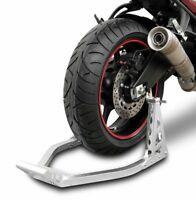 New Universal Rear Back Motorcycle Motorbike Aluminium Alloy Paddock Rigid Stand