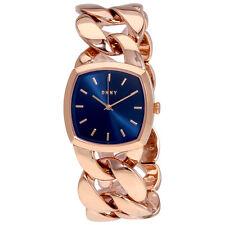 DKNY Chanin Blue Dial Rose Gold-Tone Ladies Watch NY2568