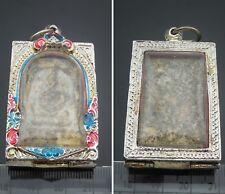 Rare Silver Case Color Phra Somdej LP Toh Wat Rakang Pim Yai Pendant Thai Amulet