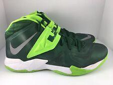2618e6b2d986 NIKE Zoom Soldier VII 7 TB Men US 15.5 Green + White Shoes (599263-