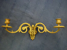 ANTIQUE MULLER OF PARIS FRENCH DOUBLE PIANO / CANDLE SCONCE / CANDLE HOLDER