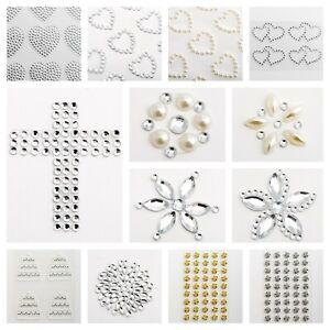 Sheet Self Adhesive Craft Diamante Rhinestone Gems Stick on Crystal Embelishment