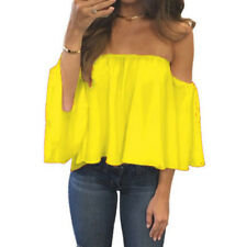 2f0934d236 Womens Off Shoulder Blouse Sexy Strapless Top Ladies.