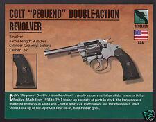 COLT PEQUENO DOUBLE-ACTION REVOLVER .32 Hand Gun Classic Firearms PHOTO CARD