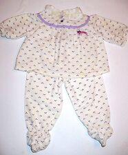 Vintage Pamela Doll Purple Print 2 Piece Pajamas