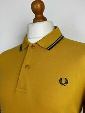 Fred Perry | Twin Tipped M1200 Pique Polo Shirt  XL|XXL|44 (Yellow) Mod Scooter