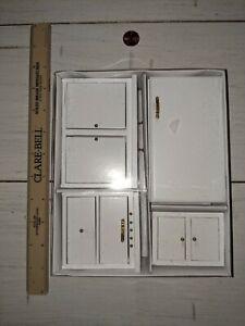 New in Box, Dollhouse Miniature Kitchen Set, Fridge, Stove, Cabinets, 1:12