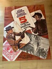 Affiche cinéma»5 CARTES À ABATTRE»1968-Dean MARTIN- Robert MITCHUM-H. HATHAWAY