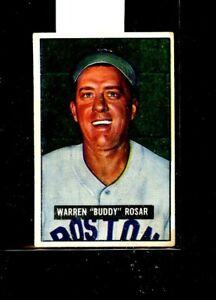 1951 BOWMAN #236 WARREN BUDDY ROASAR RED SOX VGEX E01590