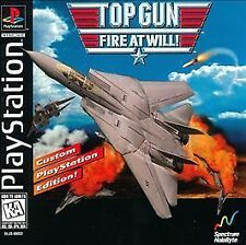 Top Gun: Fire at Will (Sony PlayStation 1, 1996) PS2 PS3 Fast Shipping!
