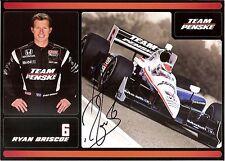 2011 RYAN BRISCOE signed INDIANAPOLIS 500 HERO PHOTO CARD POSTCARD INDY CAR izod