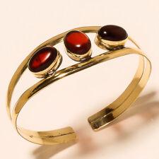 0Tibetan Silver Brass Cuff Bracelet Bangel Garnet Gemstone Jewelry