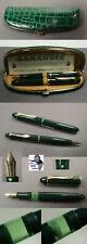 Pelikan 140 Füllfederhalter und Bleistift in grün 50ties selten  #