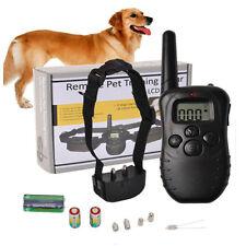 NEW 320 Yard LCD 100LV Level Shock Vibra Remote Pet Dog Training Collar Trainer