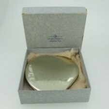 Vintage Etched Heart Sterling Silver Elgin American Mirror Compact