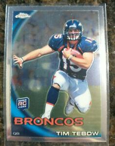 2010 Topps Chrome #C100 Tim Tebow RC Rookie Card Denver Broncos