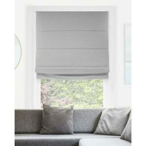 Chicology Del Mar  Pearl Grey Cordless Blackout Privacy Fabric Roman Shade