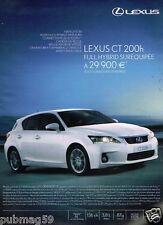 Publicité advertising 2012 Lexus CT 200h
