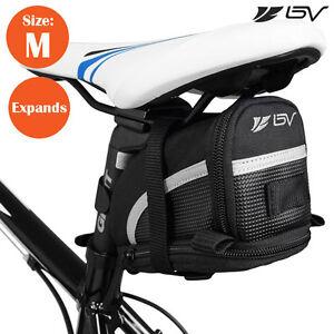 BV Bike Saddle Bag Expandable Bicycle Under Seat Saddle Bag Nylon Tail Pouch - M