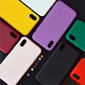 Luxury Genuine Silicone Soft Liquid Case Cover For Apple iPhone X 8 7 6s Plus 6