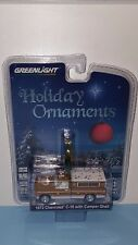 1/64 GREENLIGHT HOLIDAY ORNAMENTS 1972 CHEVROLET C-10 & CAMPER SHELL BROWN Q5