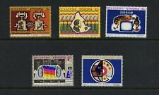 N203  Ethiopia  1971  telephones telecoms  5v.  MNH