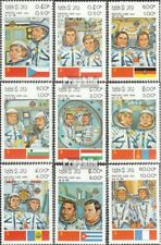 Laos 638-646 unmounted mint / never hinged 1983 Russian Space