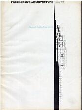 rivista - PROGRESSIVE ARCHITECTURE ANNO 1967 NUMERO 1