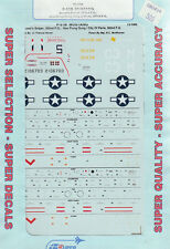 1/72 SuperScale Decals P-51B Mustang 382nd FS 363rd FG 328th FS 352nd FG 72-686