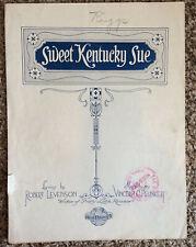 "[COL] Vintage Sheet Music ""Sweet Kentucky Sue"" (1919/1920), Levenson & Plunkett"