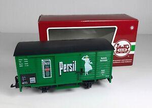 54: LGB 46356, Gedeckter Güterwagen der DR, Persil, OVP, NEU!
