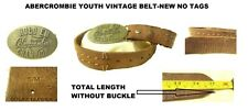 ABERCROMBIE YOUTH VINTAGE BROWN BELT WITH LARGE BUCKLE SIZE S-M NEW WITH TAGS