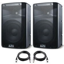 "2x Alto TX210 10"" 600W Powered Active PA Speaker or Stage Monitor DJ Band + Lead"