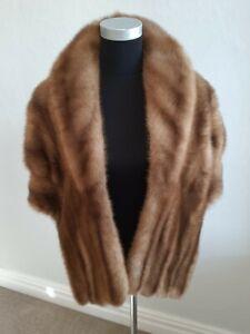 Mink Stole Wrap Shawl Cape Visone Visón Nerzstola Real Fur