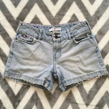 Tommy Hilfiger Vintage Faded Abrasion Stovepipe Denim Jean sz 2 Shorts 30x4