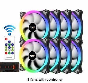 CS140 RGB Case Fan Kit x3 x5 x8 140mm  AURA SYNC Cooler RGB Fan PC Quiet Fans