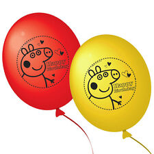 Peppa Pig Red & Yellow Latex Birthday Party Balloons Pack 10 Decoration