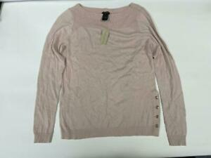 Ann Taylor New with tags Pink Scoop Neck Sweater with Gold Buttons size Medium