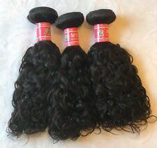 "Remy 100% Virgin Human Indian Hair Water Wave 12"" Bundle of 3 Natural Black"