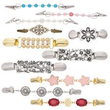 1 Pc Women Cardigan Sweater Blouse Shawl Clip Clasp Pin Chain Guard Jewelry Chic