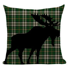 Christmas Cushion, Reindeer cushion, Moose, Tartan, Scottish, traditional