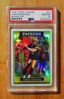 2006 Topps Chrome Refractor #14 AARON RODGERS - PSA 10 GEM MINT